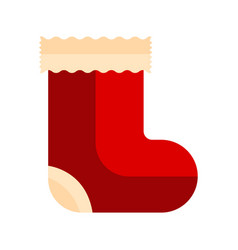 isolated christmas sock icon vector image