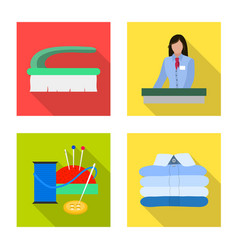 Isolated object of laundry and clean symbol vector