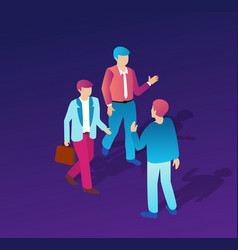 isometric people business vector image