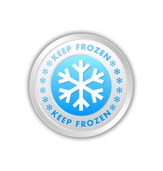 Keep frozen circular badge with snowflakes vector