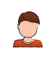 Kid child boy avatar faceless vector
