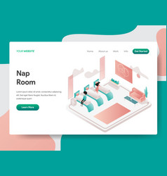 landing page template nap room concept vector image