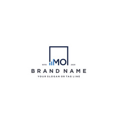 Letter mo square logo finance design vector