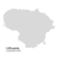 lithuania map icon lithuania contour world vector image