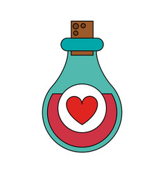 Love potion bottle saint valentines icon image vector
