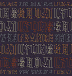 Lyons france seamless pattern vector