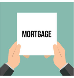 man showing paper mortgage text vector image