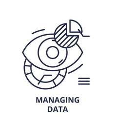 managing data line icon concept managing data vector image
