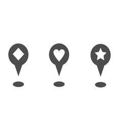 map pointer icons with different geometric shapes vector image