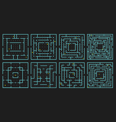 maze arcade game rectangle labyrinth puzzle vector image