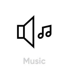 music icon editable outline vector image