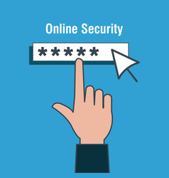 Online security acount password vector