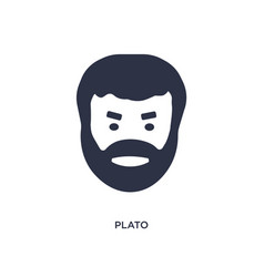 Plato icon on white background simple element vector