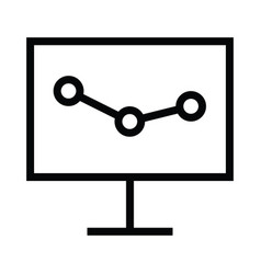 presentation board icon with outline style vector image