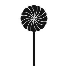 Round candy icon simple style vector image