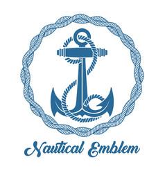 sea anchor retro emblem vector image