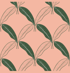 Seamless pattern of a lot of mango leaves vector