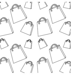 Seamless pattern shopping paper bag handle image vector