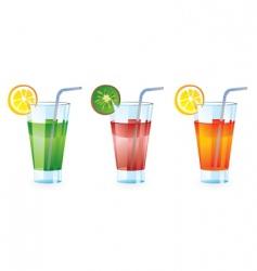 Set colorful cocktails vector