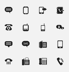 Set of 16 editable device icons includes symbols vector