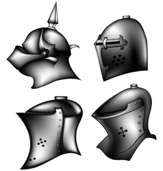 Set of ancient helms vector