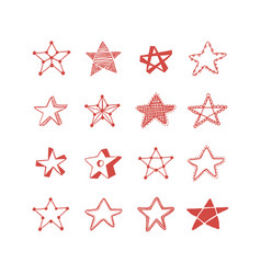 set of stars vector image