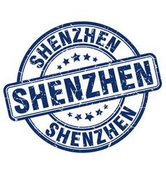 Shenzhen blue grunge round vintage rubber stamp vector