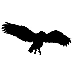 silhouette of owl vector image