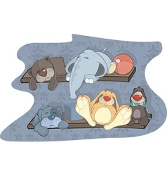 Sleeping toys vector image