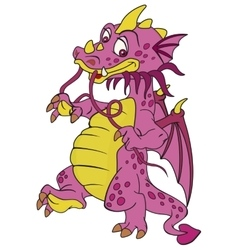 Smiling red dragon vector image
