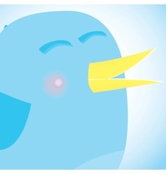 Social network blue bird media concept vector image
