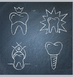 stomatological procedures and toothache icon set vector image