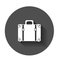 Suitcase flat on white background case for vector