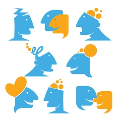 talking and thinking vector image vector image