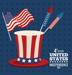 United states independence day image vector