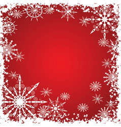 winter grunge snowflakes background vector image