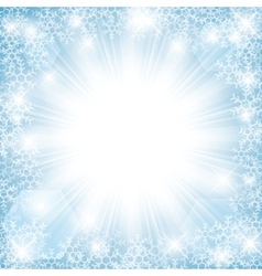 Winter sun vector