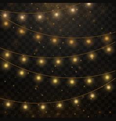 yellow christmas lights vector image