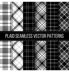 Black and White plaid buffalo check gingham vector image vector image
