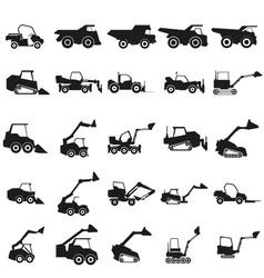 set loader car black icon on vector image