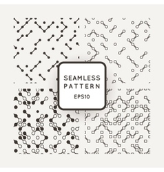 A set of four patterns in monochrome vector image