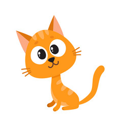 cute and funny red cat character sitting looking vector image vector image