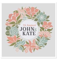 Floral wreath - wedding design vector image vector image