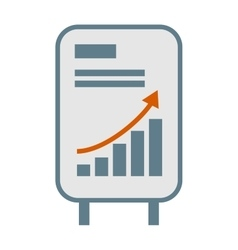 growing chart graph icon business arrow vector image vector image