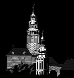 krumlov vector image vector image