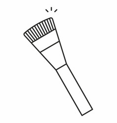 makeup brush icon vector image vector image