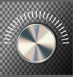 music volume knob vector image