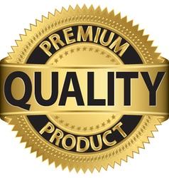 Premium quality product gold label vector image