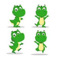 Little dinosaurs vector