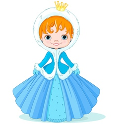 Little winter princess vector image vector image